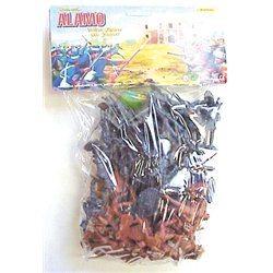55 Piece Battle for the Alamo 60mm Texan and Mexican Soldier Figures Toy Set from Americana BMC