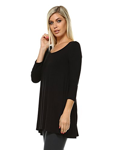 921f4f1ae7d31 Amie Finery Tunic Tops For Leggings For Women 3 4 Sleeve Shirts For Women  Long Made In USA
