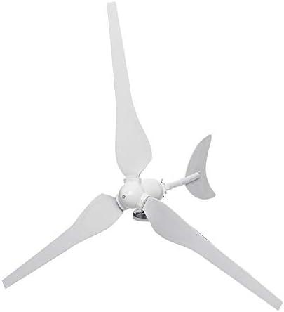 QWERTOUY 300W generador de Viento AC12V / 24V turbinas de Viento turbinas de Viento generador de Nylon con 3 Hojas de Fibra de Home Solar Farola, Barco