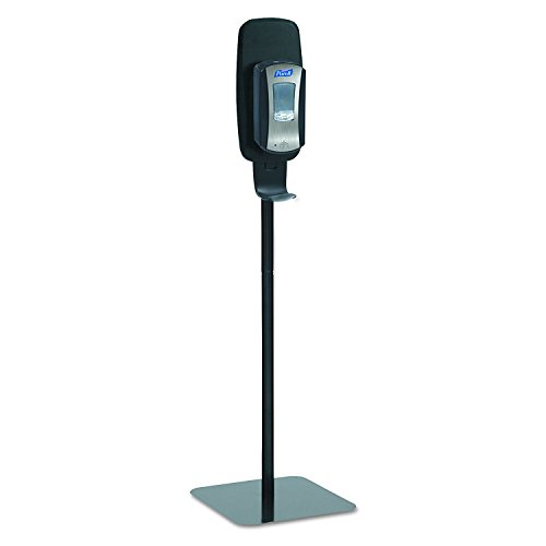 PURELL 2425-DS LTX or TFX Touch-Free Hand Sanitizer Dispenser Floor Stand, Black, 16 3/5w x 5 29/100d x 23 3/4h (Pack of 2) by Purell (Image #1)