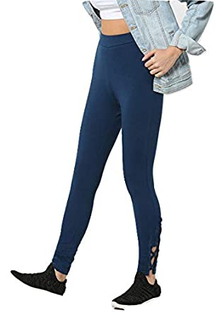 Fedofit Women S Navy Blue Criss Cross Small Legging Amazon In