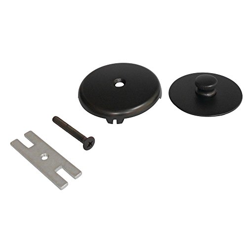 Kingston Brass DTL5303A5 Trimscape Tub Drain Stopper with Overflow Plate Replacement Trim Kit Oil Rubbed Bronze