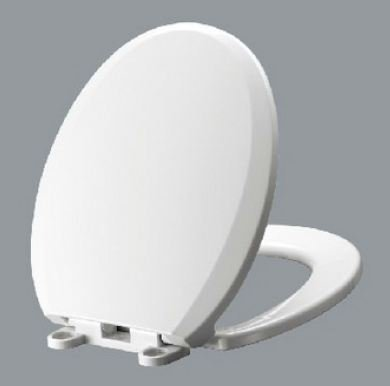 WDI I1210S, Slow Close Easy Lift-off Hinge Round Front Toilet Seat, White - Round Front Bowl Seat