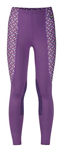 Kerrits Kids Performance Tight Amethyst/Geo Bits Amethyst Size: - Riding Equipment