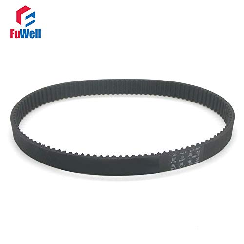 (Ochoos 2pcs HTD3M Timing Belt 15mm Width Rubber Transmission Belt 432/435/438/441/444/447/450/453/456/459/462mm Pitch Length Gear Belt - (Width: 15mm, Length: 450mm))