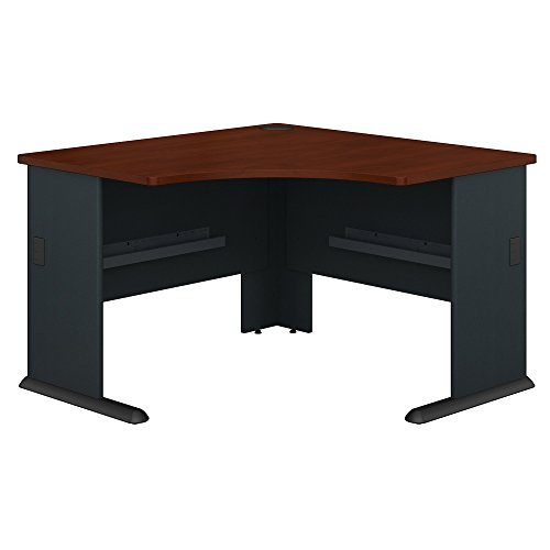 Bush Business Furniture Series A 48W Corner Desk in Hansen Cherry and Galaxy from Bush Business Furniture