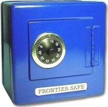 Fun Express Metal Frontier Safe Bank With Combination Lock - Assorted Colors