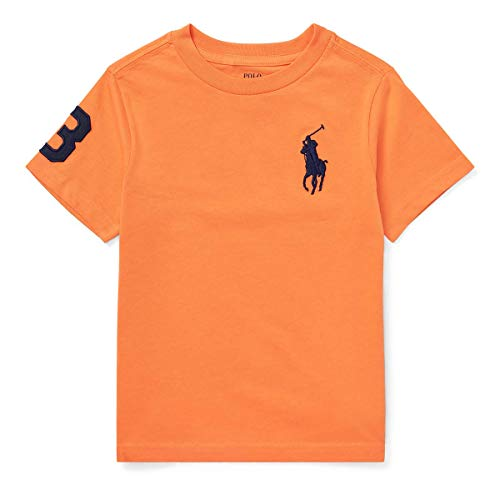 Ralph Lauren Boys Toddler Polo Big Pony Tee (4/4T, Orange)