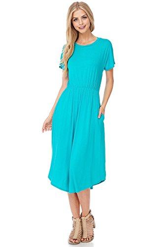 aqua dress - 4