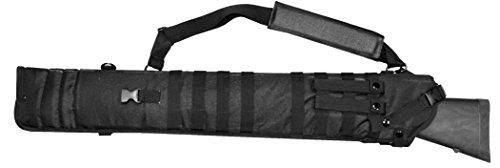 (Mossberg 500 / Remington 870 pump Tactical Scabbard Padded Sling Case Black)