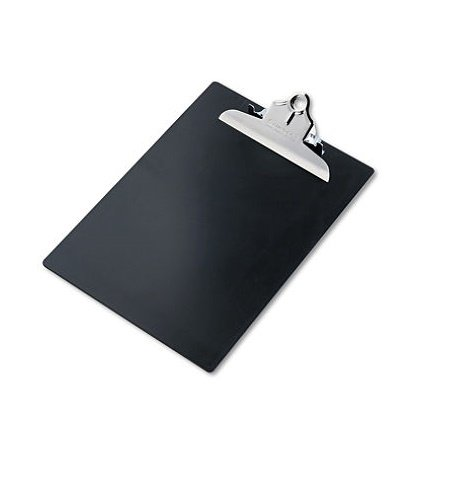 Saunders Products - Saunders - Plastic Antimicrobial Clipboard, 1 Capacity, Holds 8-1/2w x 12h, Black - Sold As 1 Each - Features a Santized antimicrobial additive. - High-capacity clip. - Built in hanging hole. - Virtually indestrucible. -