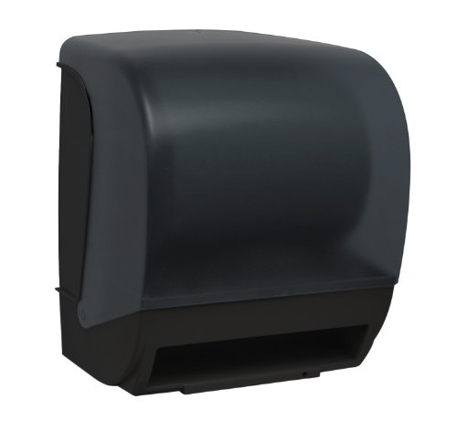 Palmer Fixture TD0235-02P Inspire Electronic Hands Free Roll Towel Dispenser, Black Translucent