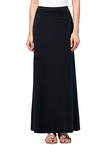 Black Stretched Long Skirt Soft Pencil Skirt for Juniors Size L KK289-1