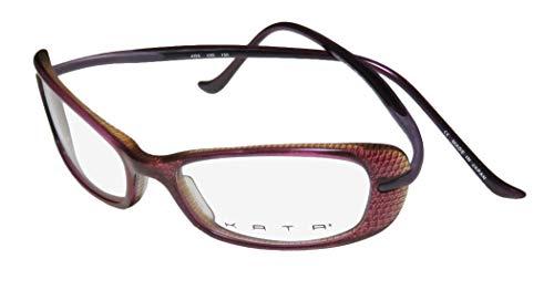 Kata Kd6 For Ladies/Women Designer Full-Rim Shape Light Weight Spectacular Japan Made Eyeglasses/Eye Glasses (51-16-130, Grape/Violet/Multicolor)