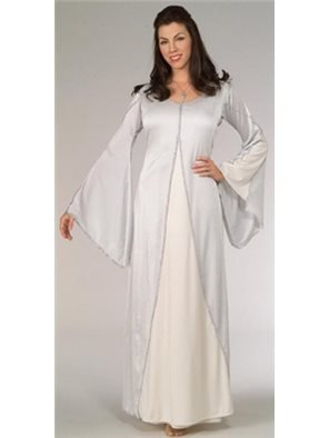 Rubies The Lord of The Rings Arwen Costume Standard Size 10-12 White (Arwen White Adult Costume)