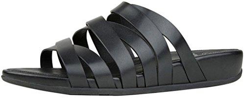 Couro Lumy Fitflop Slides Sandale 2017 Todo Preto