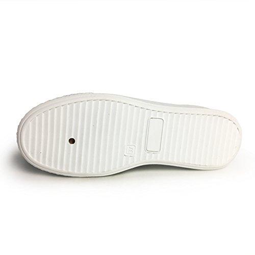 Xiaoyouyu Faux Pu Lederen Fashion Sneakers Voor Dames Platform Design Veterschoenen Wit 1