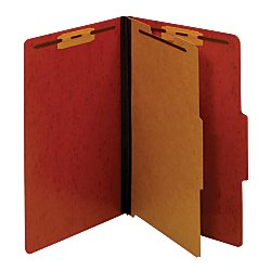 Moisture Resistant Classification Folders (Pendaflex(R) Pressboard Moisture-Resistant Classification Folders, 1 3/4in. Expansion, Legal Size, Red, Box Of 10)