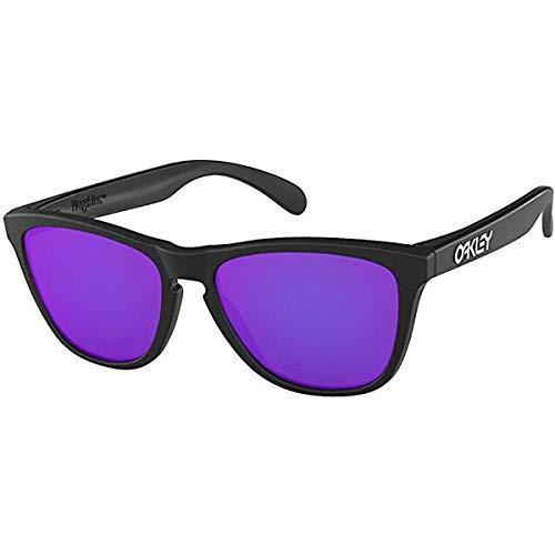 Oakley Men's Frogskins Sunglasses,One Size,Matte Black/Violet ()