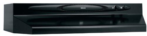 Broan QT236BL Under Cabinet Range Hood, 200 CFM, 36-Inch, Black