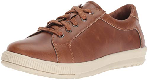 Deer Stags Boys' Kane Memory Foam Casual Dress Comfort Sneaker, Dark tan/Cream 11 Medium US Little ()