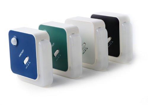 Ivation 4-LED Motion Sensor Light - BLACK - Battery Powered Night Light with a Built in Motion and Light Sensor
