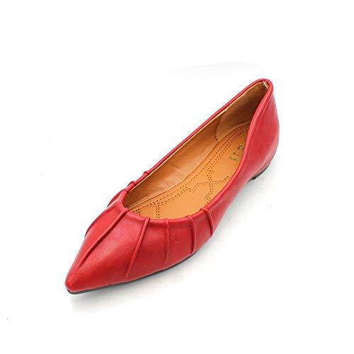 Las de Embarazadas UE Retros del cómodos Zapatos Europeo la EU FLYRCX Inferior Mujeres Solos Moda señalada Zapatos 35 Estilo Suave la Trabajo de Parte de Planos Zapatos 37 4gwR1