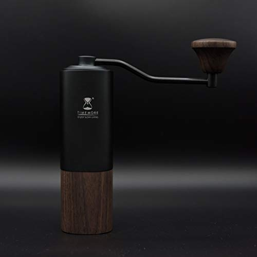 Chestnut G1 Manual Coffee Grinder with Adjustable Setting,Unibody-Design of Aluminum and Walnut wood | Pour Coffee…