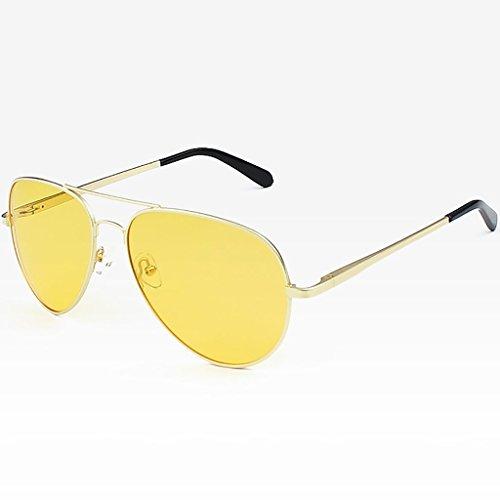 polarisés UV A de de Cadre en B métal Protection Soleil Hommes par 400 Lunettes aviateur Couleur de gUTwwxqI