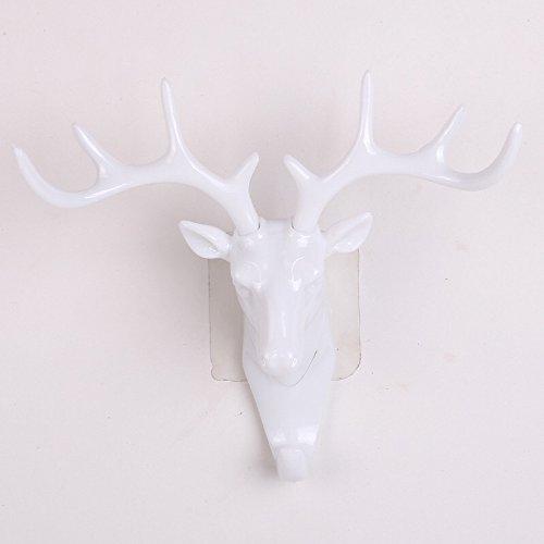 Vintage Deer Head Antlers Wall