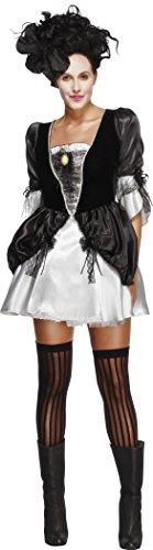 [Smiffy's Women's Fever Baroque Fantasy Costume, Dress with Peplums, Halloween, Fever, Size 6-8, 33794] (Italian Fancy Dress Costume)