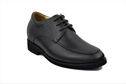 Zerimar Herren Sportschuhe mit Unsichtbarer Erhöhung 7 cm Schuh Aus Hochwertigem Leder Farbe braun Größe 44