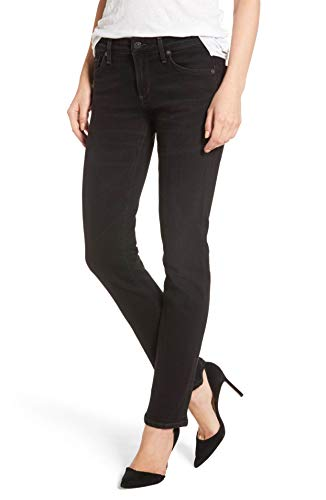 (Racer - Low Rise Skinny Jeans in Darkness (Black) - Size 28)