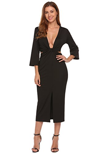 long black fitted dress - 7