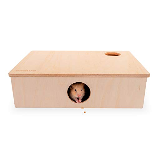 andwe Hamster House 6-Room Hideout Maze for Hamsters Mice and Other Small Rodents – Activity & Hidey Basement (16.5-inch L x 10.5-inch W – Large)