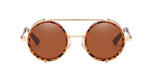 rond Thé du lunettes soleil cercle retro en style Complète métallique de inspirées Lennon de polarisées Tranche vintage wnAnSU7q