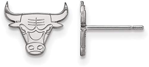 Chicago Bulls Earring - Sterling Silver NBA Chicago Bulls X-Small Post Earrings by LogoArt