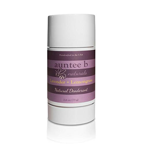 Natural Aluminum-Free Deodorant (Lavender/Lemongrass) by Auntee B Naturals | No Baking Soda | For Him and Her | No Phthalate or Parabens