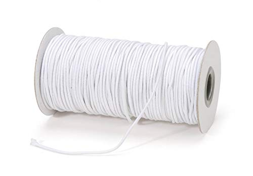 Darice White Elastic Cord – 2mm Size Perfect for Jewelry Making – Cut to Size – White Elastic Covered With White Rayon – Great for Crafts, Hair Ties and Home Uses, 72 Yard Roll