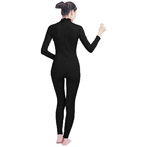 Gaibest Adult High Neck Zip One Piece Unitard Full Body Leotard Unisex For Dancewear