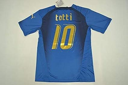 9d2734986 Amazon.com   Retro Francesco Totti Italy Home Soccer Jersey 2006 ...