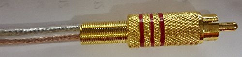 Gold Plated Metal RCA Red to Open 16 awg (Heavy Duty 16 Gauge) 10 Foot