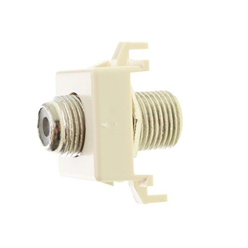 Commscope UNV-F-F-AL Uniprise F-Connector Jack, CATV Insert, Almond (25 Pack)