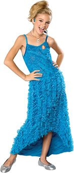 [Child LG (Size 12-14, 8-10 yrs) Fabulous Sharpay Aqua/Seafoam Green HSM Dress] (Hsm Costumes)