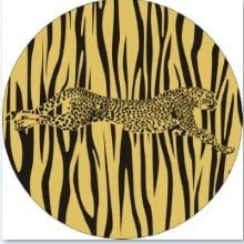 Lannmart Africa Wild Animal Giraffe/Tiger/eopard Stripe Printing Wall Hanging Plate Home Furnishing Decorative Ceramic Craft Plates
