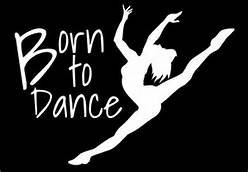 Born To Dance Ballerina Contemporary Dance Dancer Vinyl Deca