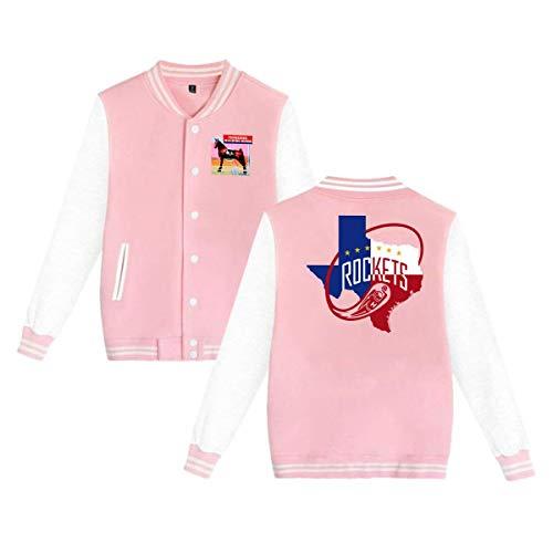Tennessee Walking Horse Love Basketball Fashion Unisex Plus Velvet Baseball Jacket Sweatshirt Pink XXL