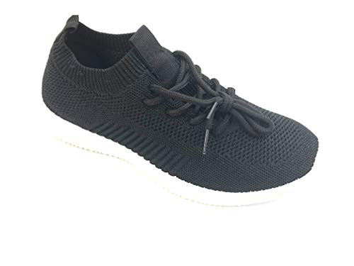Womens Sneakers - Super Light Weight -Comfort Sneakers for Women; Colorful Fashion Trainers; Ladies Walking Shoes-Black Chip-5.5 ()