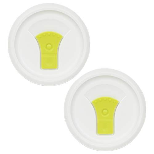 Corningware FM-22-VPC 20oz Green Round Soup Mug Pop-Ins Vented Lid - 2 Pack ()
