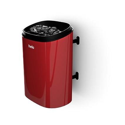 Helo sauna estufa de con/sin control de fonda - Modelo: 4.5 DET rojo